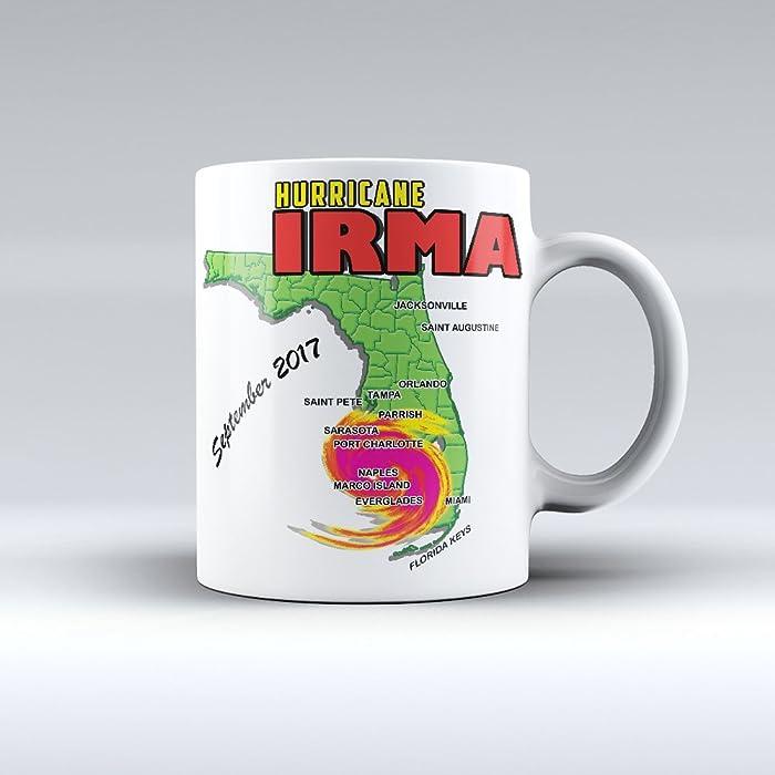 Hurricane Irma Coffee Mug Hurricane Irma Souvenir Ceramic Mug 15oz