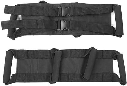 Tela Oxford Cintura para Motocicleta Correa Protectora Ajustable Cintur/ón para Montar en Motocicleta Negro Keenso Cintur/ón de Pasajero para Motocicleta