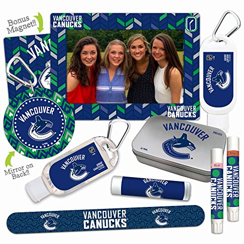 12% OFF—NHL Vancouver Canucks Platinum Variety Set— with 2 Lip Shimmers, Lip Balm SPF 15, Nail File, Mirror, Sanitizer, Lotion, Mint Tin, Magnetic Picture Frame. Gifts for Women, by - Store Vancouver Frame