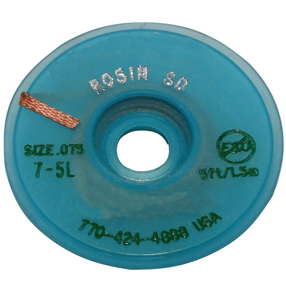Aerzetix: Tresse ruban bande à dessouder dessoudage cuivre 1.9mm/1.5m flux colophane SK2-C13429-AC431
