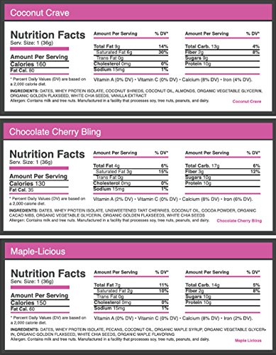 EMPACT BARS Amazons #1 Ranked All Natural, NON-GMO, Gluten FREE Protein and Energy BAR for Women: Dream Team Variety Box