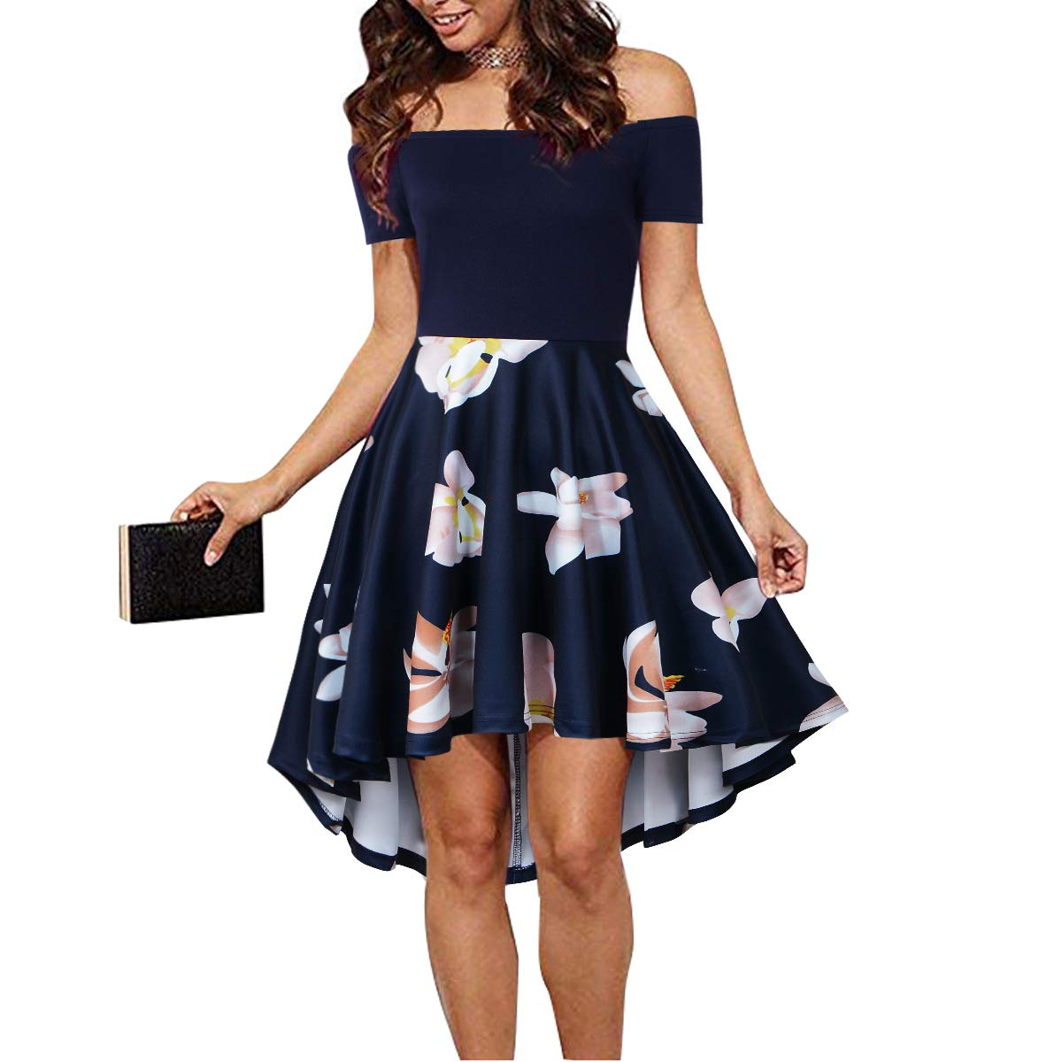 CUQY Teens Elegant Female Graduation Dress Formal Homecoming Dresses for Womens(Navy, M) ... by CUQY