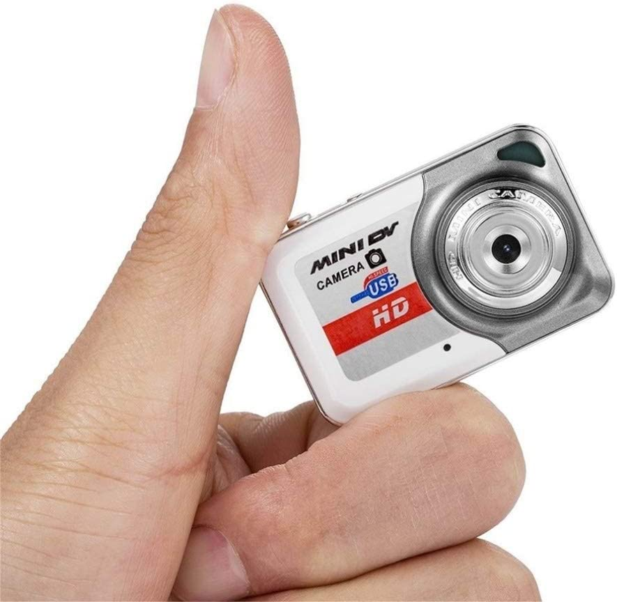 HENGTONGTONGXUN HD Ultra Portable 12801024 Mini Camera X6 Video Recorder Digital Small Cam Support TF Card Micro Secure Digital Memory Card Easy to use Color : Grey