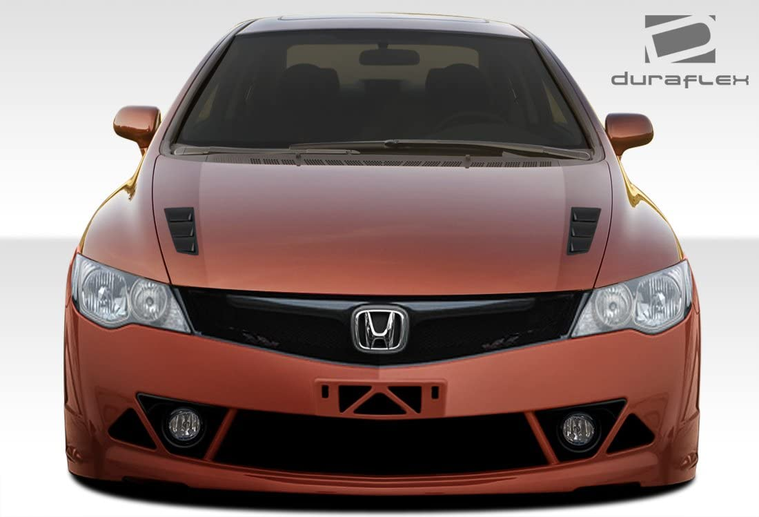 Extreme Dimensions Duraflex Replacement for 2006-2011 JDM Honda Civic 4DR Supremo Hood 1 Piece