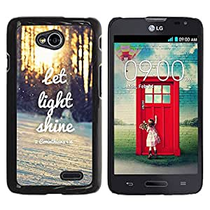 Paccase / SLIM PC / Aliminium Casa Carcasa Funda Case Cover para - Light Shine Sunset Quote Winter Sun - LG Optimus L70 / LS620 / D325 / MS323