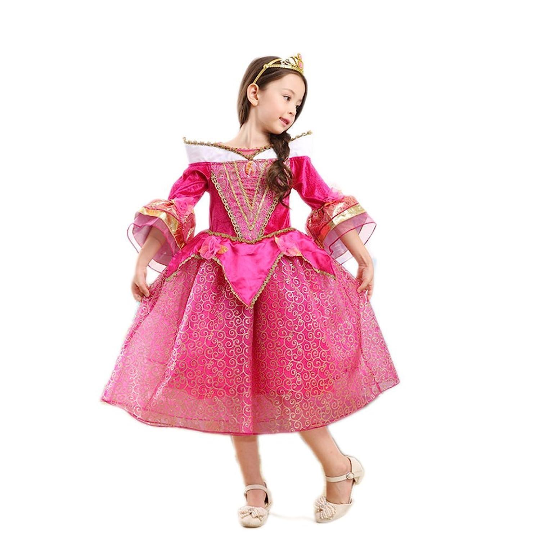 Lo mejor Bell Color Rosa Disfraz infantil brillo vestido niña ...