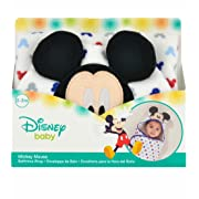 Disney Baby Mickey Mouse Embroidered Hooded Bath Swaddle, White, Blue, Red, Grey, 24.5 L X 12 W