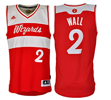 Adidas Washington Wizards John Wall 2 XMAS Swingman NBA Jersey Vest (S-46)