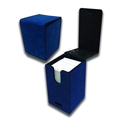 Ultra Pro E-85769 Suede Collection Alcove Flip Deck Box-Sapphire: Toys & Games