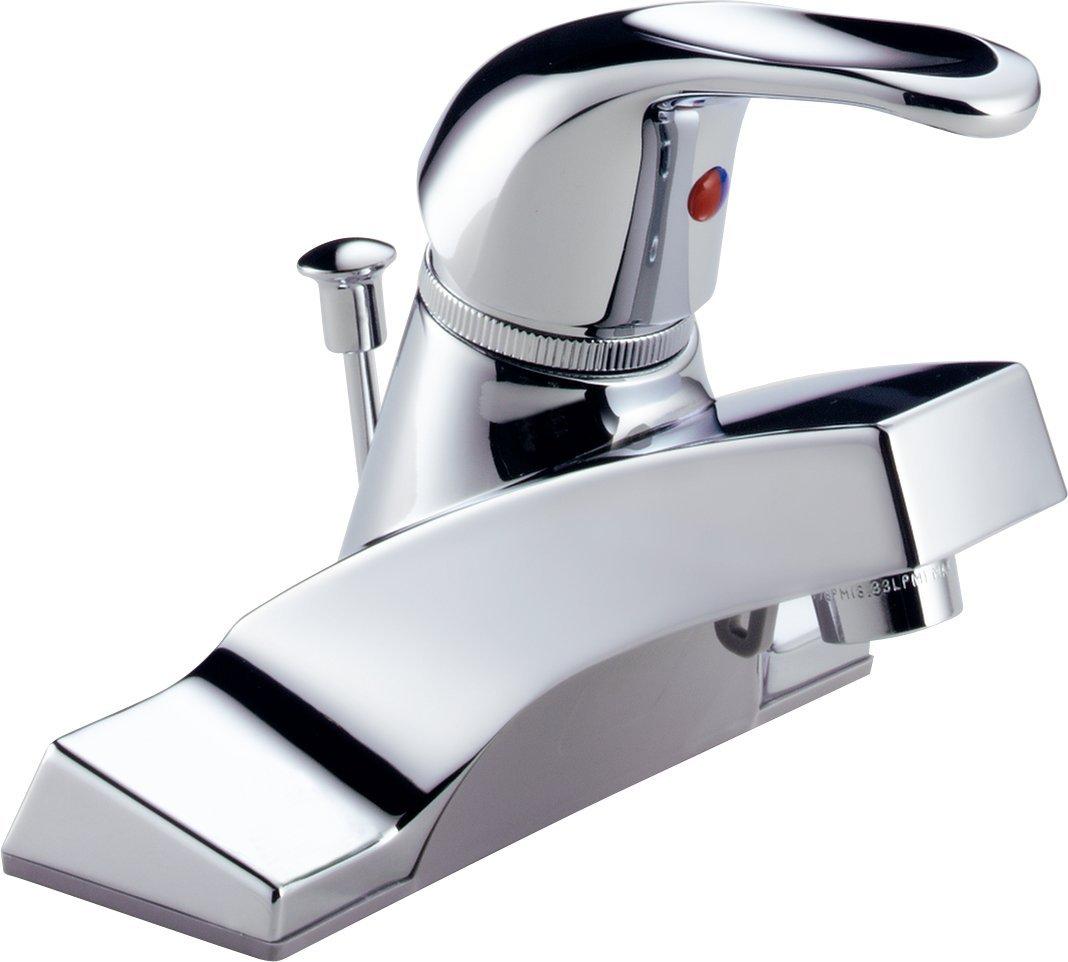 peerless p36lf classic single handle centerset bathroom faucet chrome touch on bathroom sink faucets amazoncom