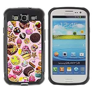 LASTONE PHONE CASE / Suave Silicona Caso Carcasa de Caucho Funda para Samsung Galaxy S3 I9300 / sweets cake ice cream cookie pink