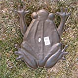 Set of 6 Cast Iron Frog Stepping Stones Rustic