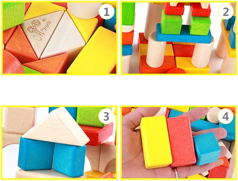 BESTING Balancing Stacking Blocks with Different Shape and Color Parent-Child Childrens Educational Balance Wooden Stacking Interlock Decompression Preschool Toys Balancing Games HJ003