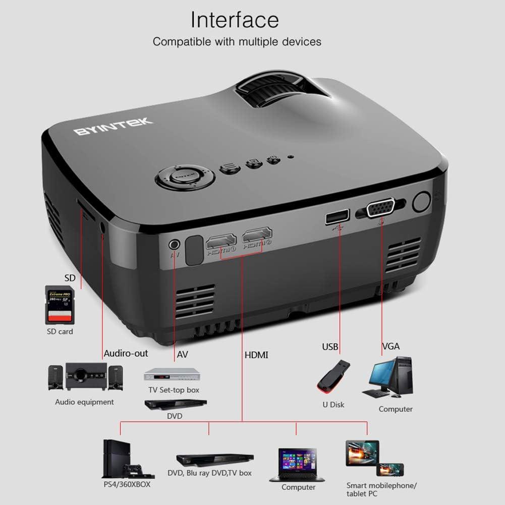 ZUKN Proyector portátil Mini LED Cinema Video Digital HD proyector ...