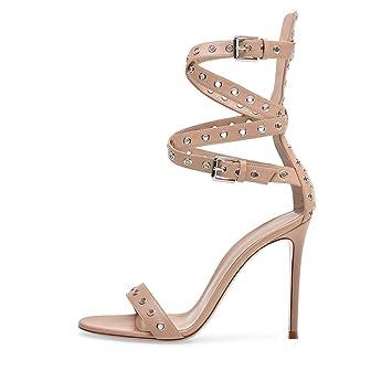 Sandalias de Mujer Zapatos de Mujer Código de Grandes Europeos y Americanos Sandalias de Tacón Sexy