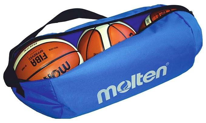 MOLTEN Profesional Bolsa de 3 Balones de Baloncesto, Unisex, Azul ...