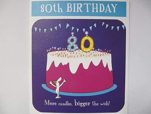 Fantástico colorido más velas Bigger el Wish Tarjeta de ...
