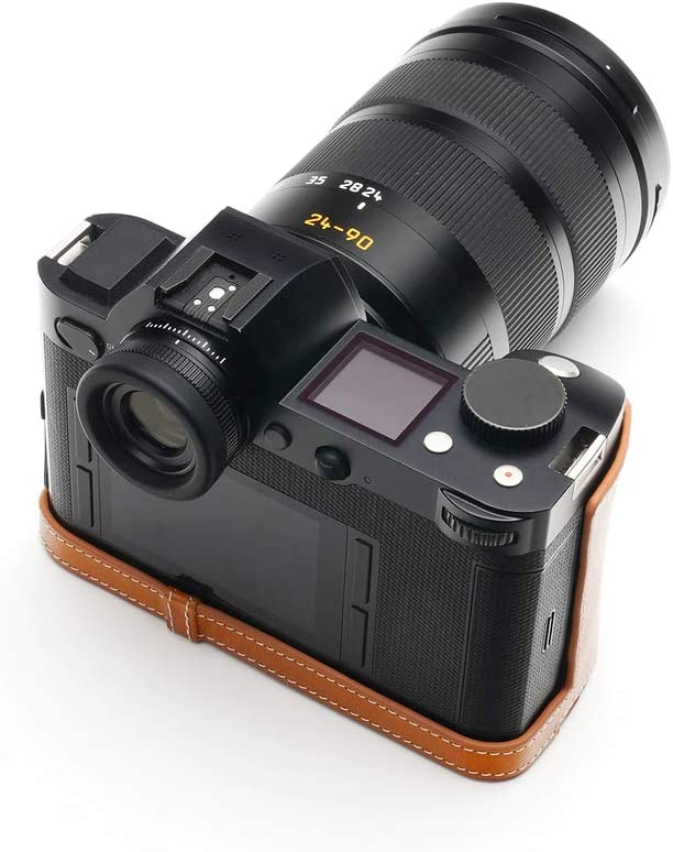 Handmade Genuine Real Leather Half Camera Case Bag Cover for Leica SL Typ601 Black Color