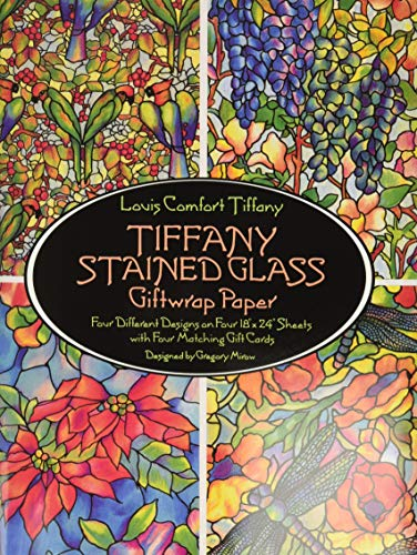 Tiffany Stained Glass Giftwrap Paper (Dover Giftwrap) Paperback – February 1, 1991