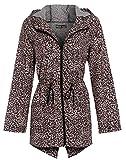 Chocolate Pickle Ladies Leopard Print Hooded Rain Coat