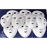 White Flock Masks, Pack Of 10