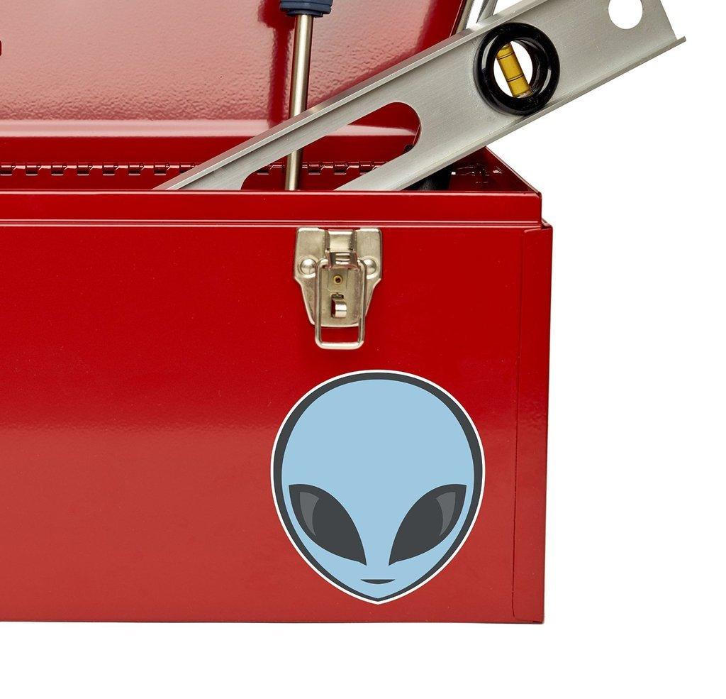 2/x Alien Sticker en vinyle pour ordinateur portable Voyage Bagage Voiture Panneau iPad Fun # 4474-10cm//100mm Wide