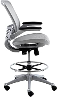 Harwick Evolve All Mesh Heavy Duty Drafting Chair   Platinum Finish
