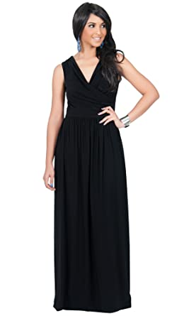 KOH KOH Womens Long Wrap Designer Sleeveless Evening Party Prom ...