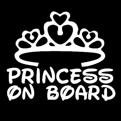 Sedeta blanco palabras de la princesa de la etiqueta pegatina de vinilo  Coches Camiones Vans Paredes adfbe38f9b8