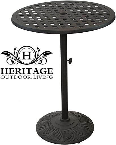 Heritage Outdoor Living Nassau Cast Aluminum 30 Bar Table - Antique Bronze