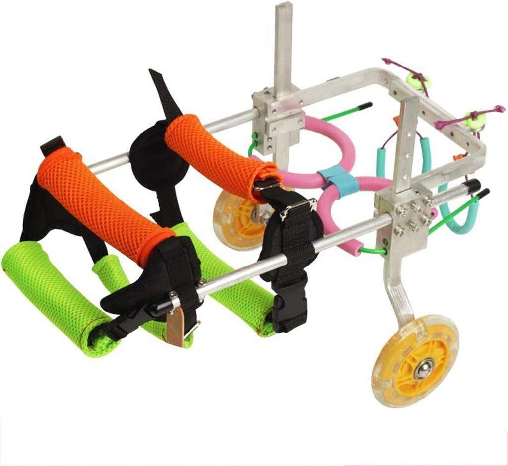 Arnés de movilidad for perros, cochecitos for perros, ruedas for sillas de ruedas for perros Silla de ruedas for perros for perros pequeños XXS 2-5 kg Silla de ruedas for patas traseras for mascotas