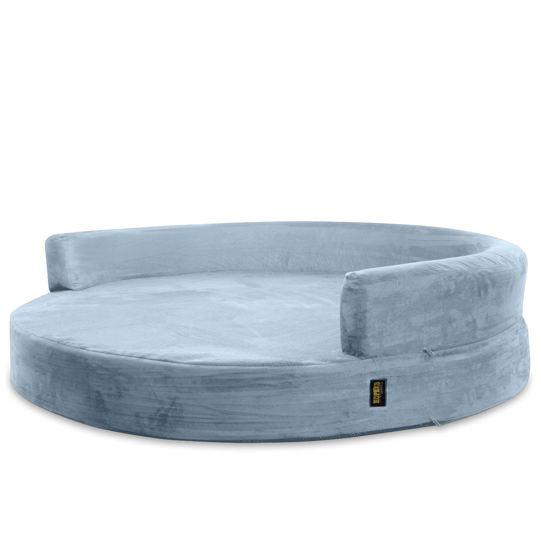 deluxe orthopedic memory foam round sofa lounge dog bed large grey 16463335658 ebay. Black Bedroom Furniture Sets. Home Design Ideas