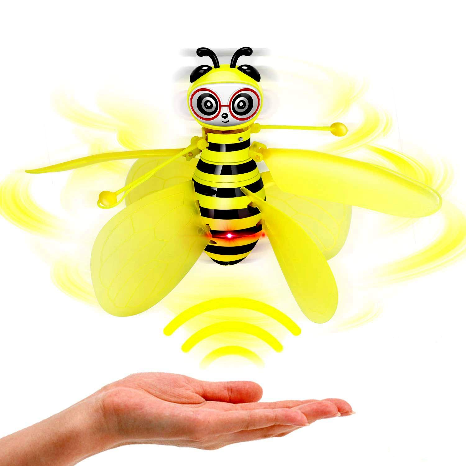 FLQ123 Flying Toys, bee Gravity Sensing Aircraft, Hanging Helicopter Toys, Hand-Controlled bee Helicopters, Birthday Holiday, 4 Years Old Children, Men and Women app