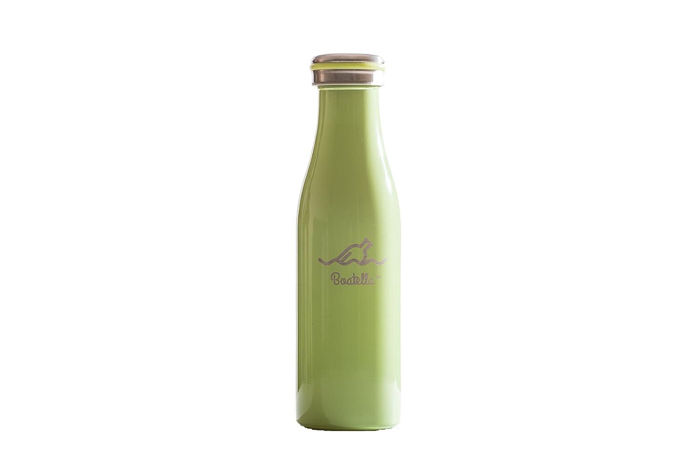 boatella ® lúsh – ライムグリーン、断熱ステンレススチールボトル、15.2 Oz B07BHWC2PM