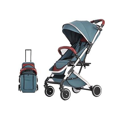 XnZLXS-Cochecitos Carretilla de Tijera Plegable Carro de los niños Portátil Deportes al Aire Libre