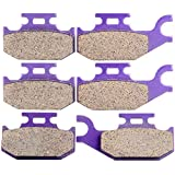 #8: ECCPP Front+Rear Kevlar Carbon Brake Pads Fits Bombardier DS650 Outlander 330 400 650 800 Can-Am DS650 Outlander 400 500 650 800 Outlander Max 400 Renegade 800R FA307 FA317