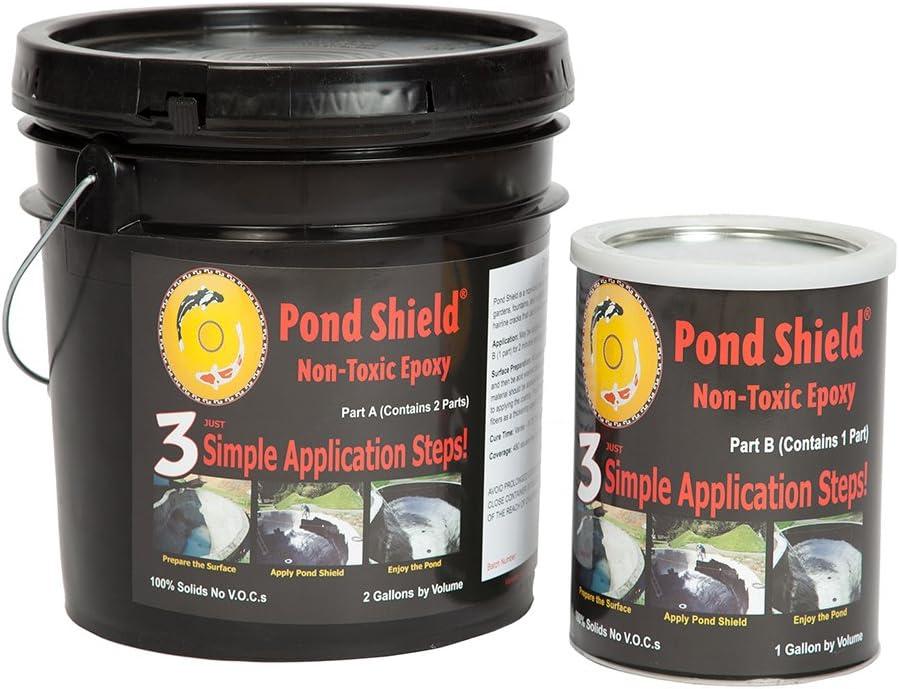 Amazon Com Pond Armor Sku Cblue 3ga Non Toxic Pond Shield Epoxy Paint 3 Gallon Competition Blue Garden Outdoor