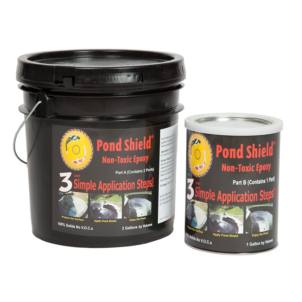 Pond Armor SKU-CBLUE-3GA Non-Toxic Pond Shield Epoxy Paint, 3-Gallon, Competition Blue by Pond Armor (Image #1)