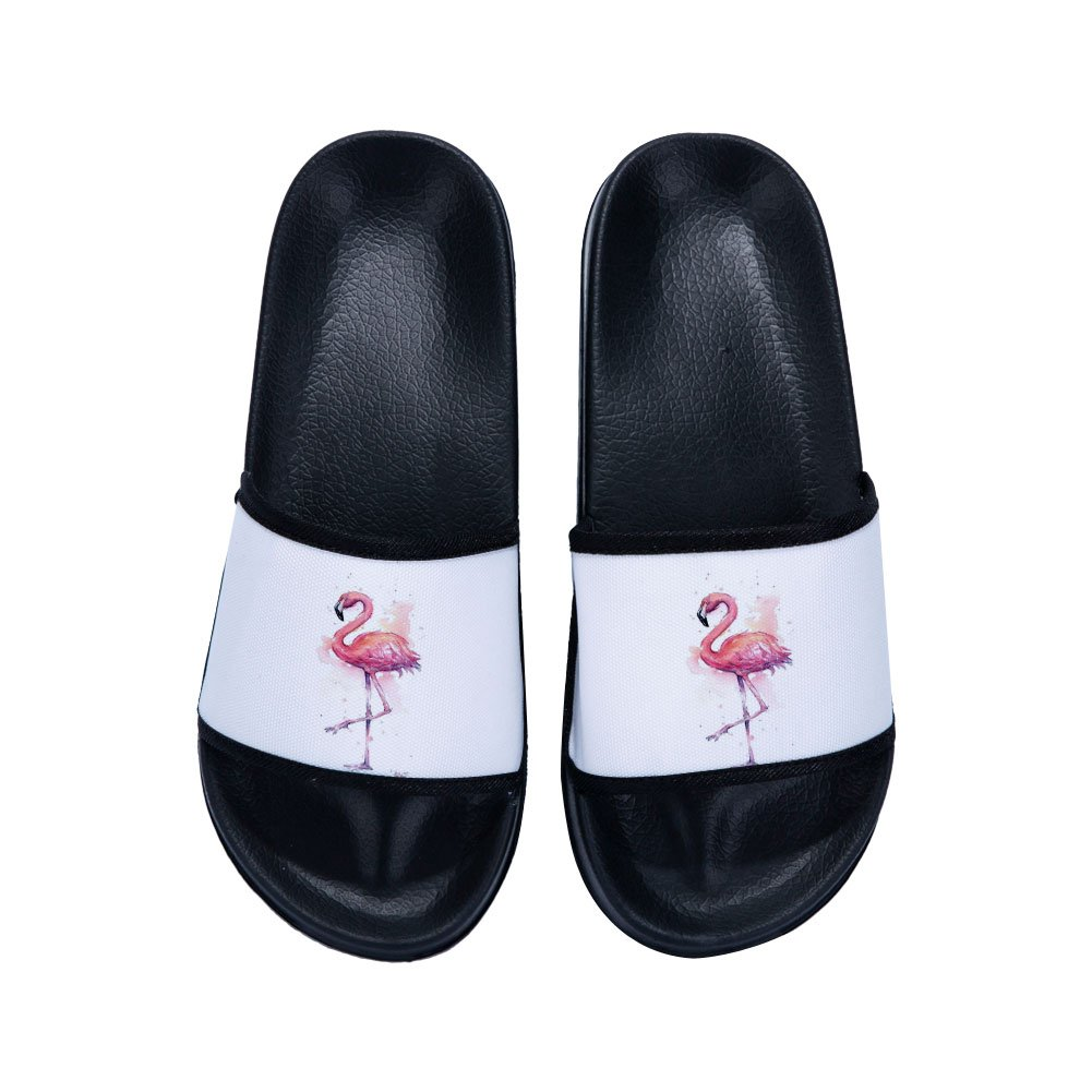 Xhan Hot Summer Flamingo Slippers Beach Soft Bottom Boys Girl Cool Flip Flops