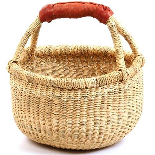 (Hands Craft Fair Trade Ghana Bolga African Dye-Free Mini Market Basket (7