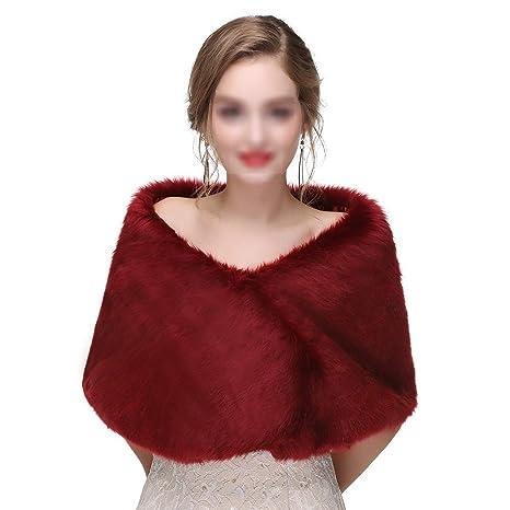 9c450a6c42f1 Yzibei Nobile Sciarpe da Sposa da Donna con Scialle Invernale da Donna  Stole Calde Poncho per