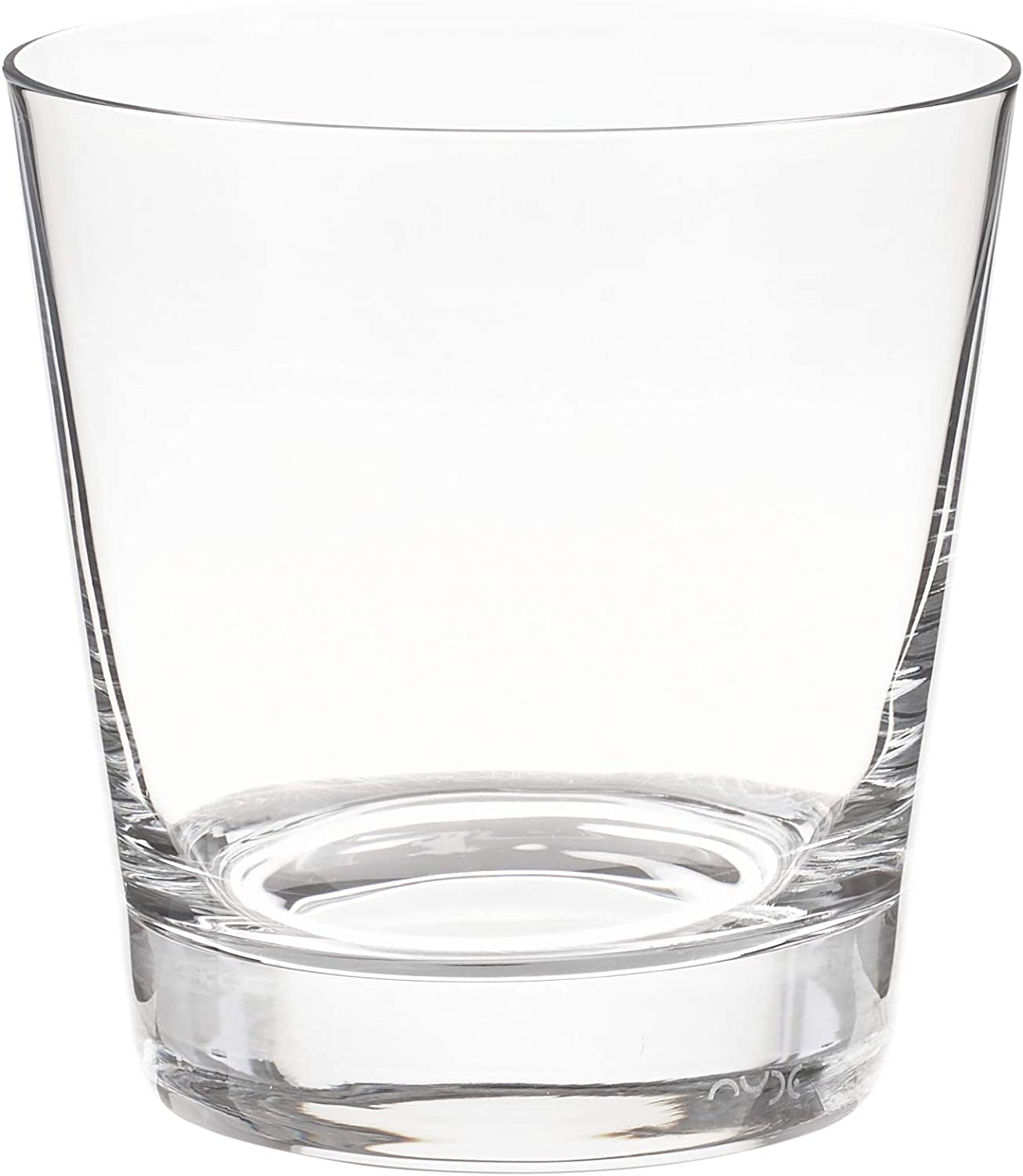 Moda Nude 13 Ounce Old Fashioned Glasses, Set of 6 Dishwasher Safe Lowball Glasses - Heavy Base, Laser Cut Rim, Clear Crystal Glass Cocktail Glasses, Lead Free, For Cocktails Or Beverages