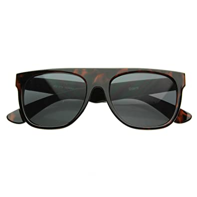 Amazon.com: zeroUV – Estilo moderno retro Flat-top Aviator ...