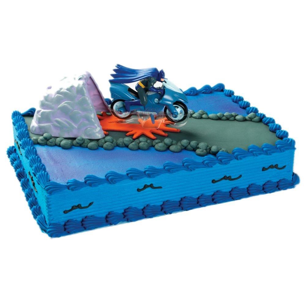 Amazoncom Bakery Crafts Batman on Batcycle Cave Cake Topper