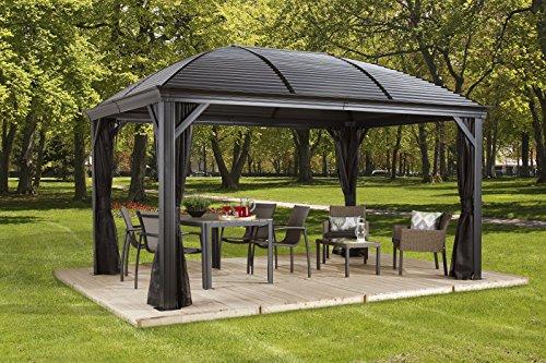 Sojag 500-7156980 Moreno Sun Shelter, 10 x 12 , Charcoal