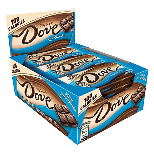 Dove 100 Calories Milk Chocolate Candy Bar 0.65-Ounce Bar 18-Count Box (Candy Milk Chocolate)