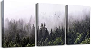 "Canvas Wall Art for living room bathroom Wall Decor for bedroom kitchen artwork Canvas Prints forest Landscape painting 12"" x 16"" 3 Pieces Modern framed office Home decorations family picture"