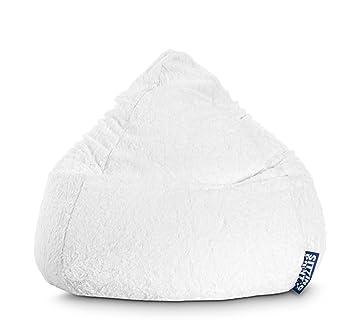 Magma Sitting Point Beanbag Fluffy Sitzsack Xxl Weiß Flauschig