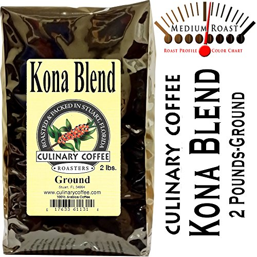 Culinary Coffee Roasters- Kona Fancy Blend, Medium Roasted-Ground-2-pound Bag-Amazon Special 100% Satisfaction (Kona Coffee History)