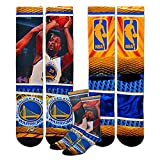 Officially licensed NBA Hardplay men's performance Crew sock featuring your NBA players. Made by For Bare Feet. Size large fits Men's shoe sizes 10-13, size medium 5-10.